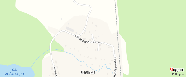 Советский переулок на карте железнодорожной станции Лельмы с номерами домов