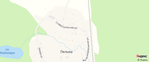 Заречный переулок на карте железнодорожной станции Лельмы с номерами домов