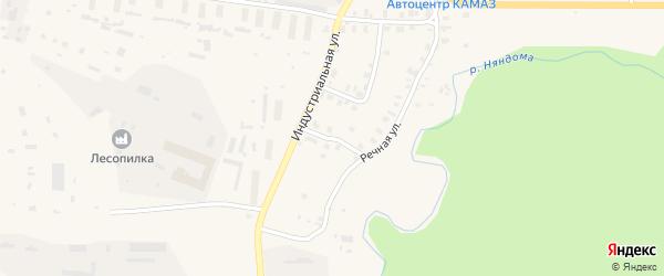 Кооперативный переулок на карте Няндомы с номерами домов
