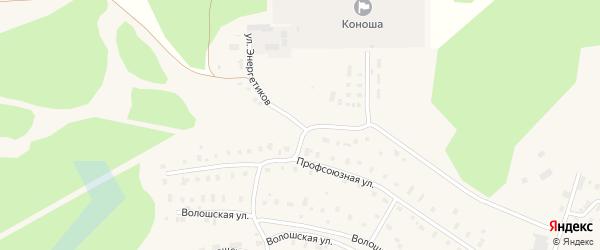 Улица Энергетиков на карте поселка Коноши с номерами домов