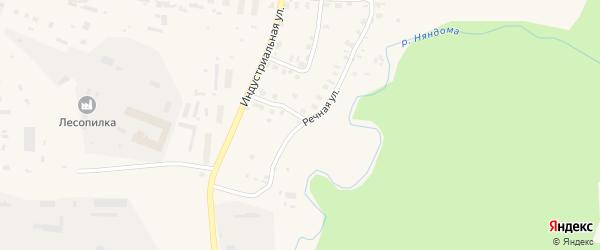 Речная улица на карте Няндомы с номерами домов