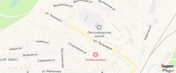 Улица Тельмана на карте поселка Коноши с номерами домов