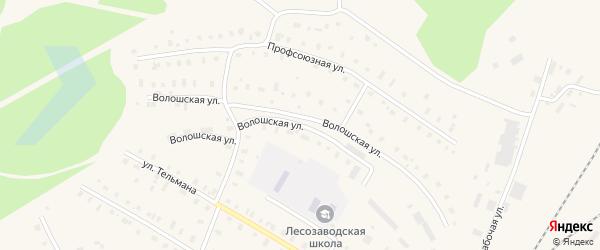 Волошская улица на карте поселка Коноши с номерами домов