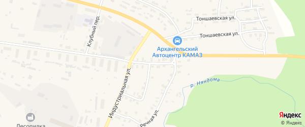 Лесопильная улица на карте Няндомы с номерами домов