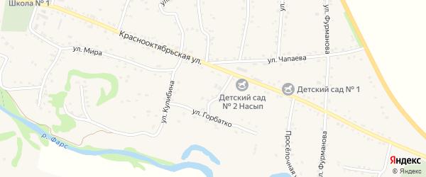 Улица Горбатко на карте аула Хакуринохабля с номерами домов