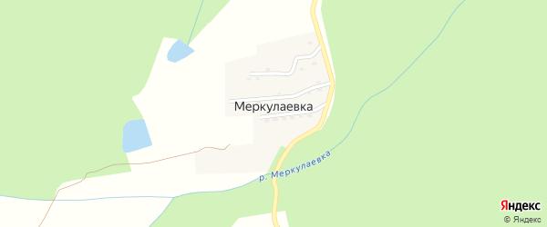 Цветочная улица на карте поселка Меркулаевки с номерами домов