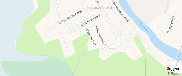 Сосновая улица на карте поселка Шалакуши с номерами домов