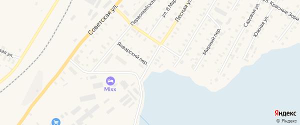 Лесная улица на карте Балуевской деревни с номерами домов