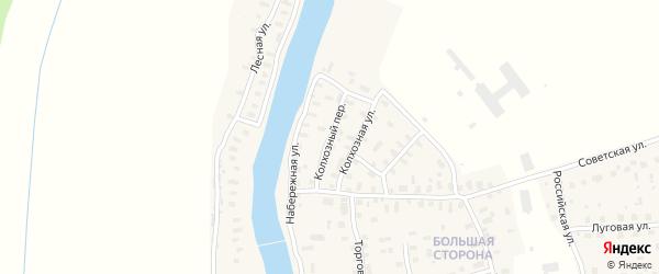 Колхозный переулок на карте поселка Шалакуши с номерами домов