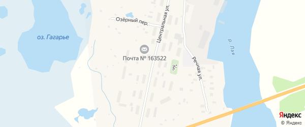 Центральная улица на карте поселка Лайского Дока с номерами домов