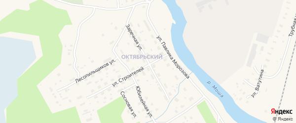 Заречная улица на карте поселка Шалакуши с номерами домов