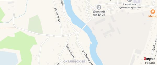 Улица П.Морозова на карте поселка Шалакуши с номерами домов