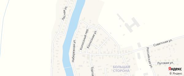 Колхозная улица на карте поселка Шалакуши с номерами домов