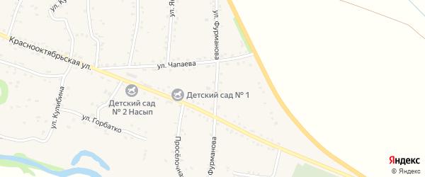 Улица Фурманова на карте аула Хакуринохабля с номерами домов