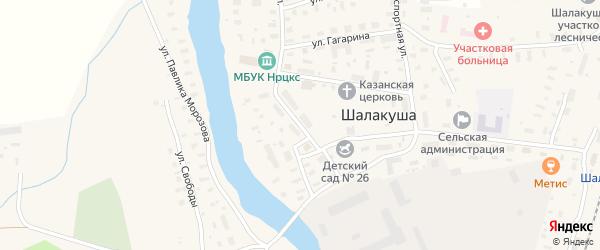 Первомайская улица на карте поселка Шалакуши с номерами домов