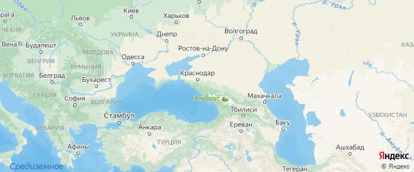 Карта Адыгеи с городами и районами
