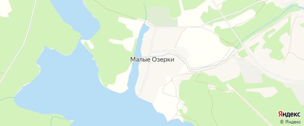 Карта деревни Малые Озерки в Архангельской области с улицами и номерами домов