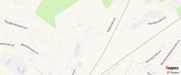 Рабочая улица на карте поселка Коноши с номерами домов