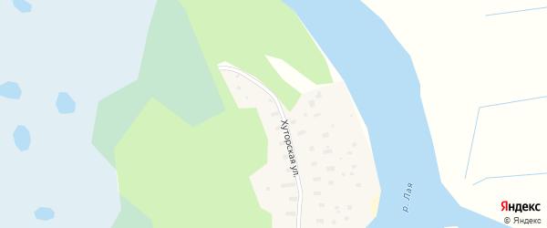 Хуторская улица на карте садового некоммерческого товарищества Садоводы Севера сад N6 с номерами домов