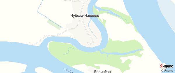 Карта деревни Чубола-наволока в Архангельской области с улицами и номерами домов