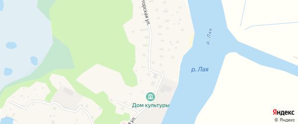 Хуторская улица на карте поселка Лайского Дока с номерами домов