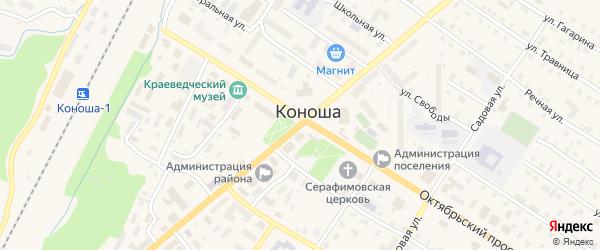 Советская улица на карте поселка Коноши с номерами домов