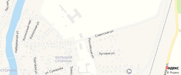 Советская улица на карте поселка Шалакуши с номерами домов