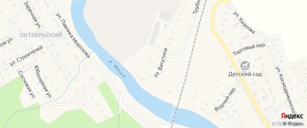 Речной переулок на карте поселка Шалакуши с номерами домов