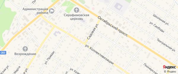 Садовая улица на карте поселка Коноши с номерами домов