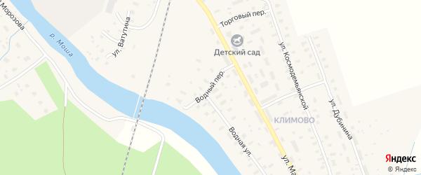 Водный переулок на карте поселка Шалакуши с номерами домов