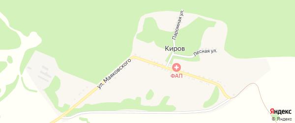 Улица Маяковского на карте хутора Кирова с номерами домов