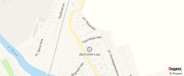 Торговый переулок на карте поселка Шалакуши с номерами домов