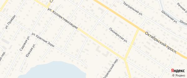 Улица Коллективизации на карте поселка Коноши с номерами домов