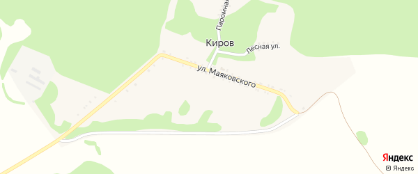 Паромная улица на карте хутора Кирова с номерами домов