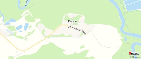 Карта хутора Кирова в Адыгее с улицами и номерами домов