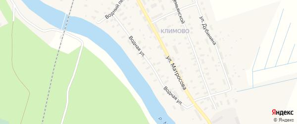 Водная улица на карте поселка Шалакуши с номерами домов