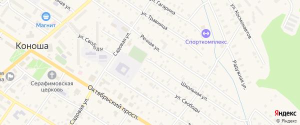 Школьная улица на карте поселка Совза с номерами домов