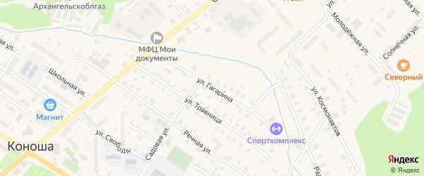 Улица Гагарина на карте поселка Коноши с номерами домов