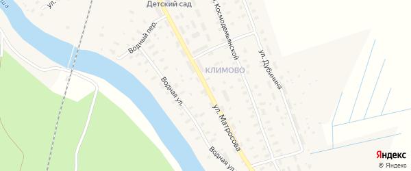 Улица Матросова на карте поселка Шалакуши с номерами домов
