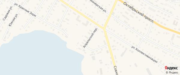 Апрельский переулок на карте поселка Коноши с номерами домов