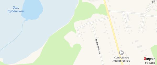 Пригородная улица на карте поселка Коноши с номерами домов