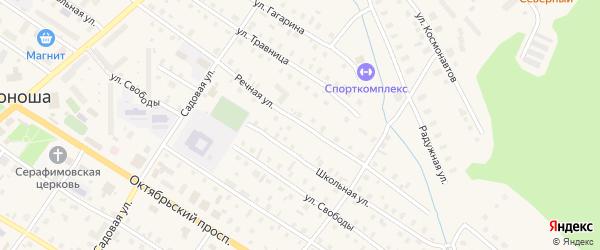 Речная улица на карте поселка Коноши с номерами домов