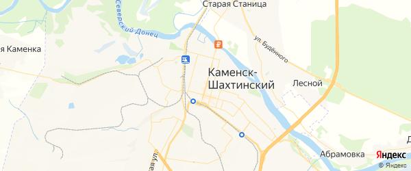 Карта Каменска-Шахтинского с районами, улицами и номерами домов: Каменск-Шахтинский на карте России
