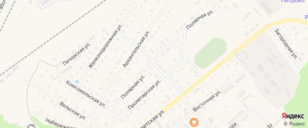 Полярная улица на карте поселка Коноши с номерами домов
