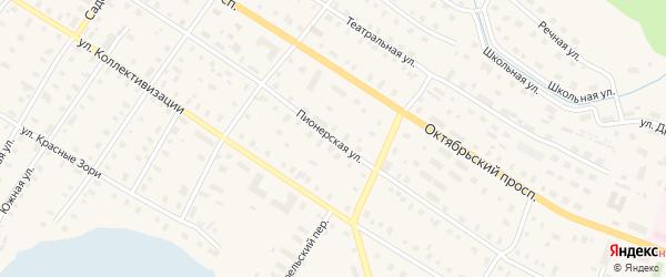Пионерская улица на карте поселка Коноши с номерами домов