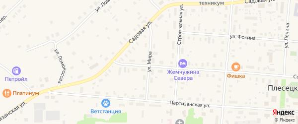 Улица Мира на карте Савинского поселка с номерами домов