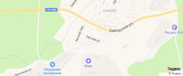 Лесная улица на карте железнодорожной станции Бурачихи с номерами домов