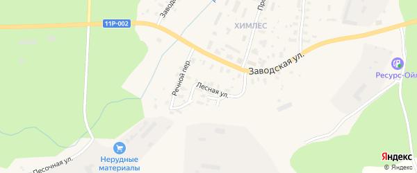 Лесная улица на карте железнодорожной станции Полохи с номерами домов
