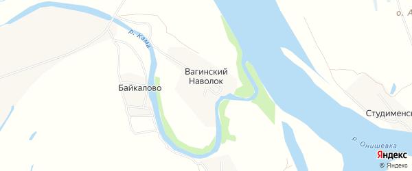 Карта деревни Вагинского Наволока в Архангельской области с улицами и номерами домов