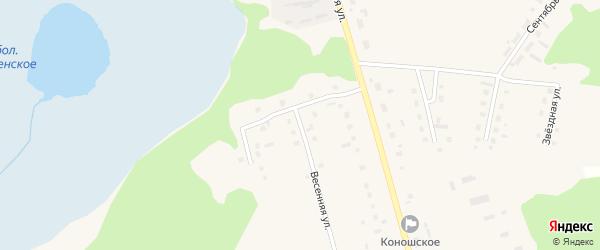 Весенняя улица на карте поселка Коноши с номерами домов